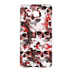 Cloudy Skulls White Red Samsung Galaxy A5 Hardshell Case
