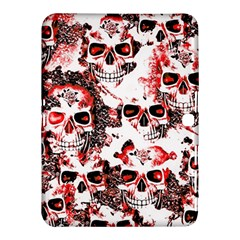 Cloudy Skulls White Red Samsung Galaxy Tab 4 (10.1 ) Hardshell Case