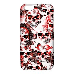 Cloudy Skulls White Red iPhone 6/6S TPU Case