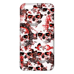 Cloudy Skulls White Red iPhone 6 Plus/6S Plus TPU Case