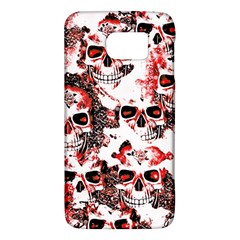 Cloudy Skulls White Red Galaxy S6