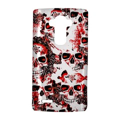 Cloudy Skulls White Red LG G4 Hardshell Case