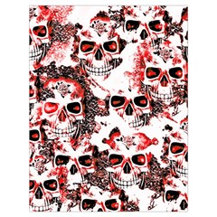 Cloudy Skulls White Red Drawstring Bag (Large)