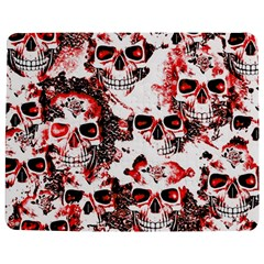 Cloudy Skulls White Red Jigsaw Puzzle Photo Stand (Rectangular)
