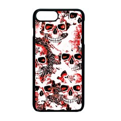 Cloudy Skulls White Red Apple iPhone 7 Plus Seamless Case (Black)
