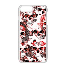Cloudy Skulls White Red Apple iPhone 7 Plus White Seamless Case
