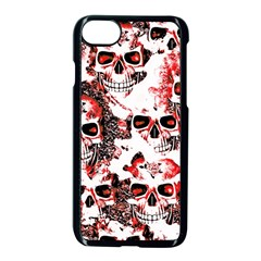 Cloudy Skulls White Red Apple iPhone 7 Seamless Case (Black)