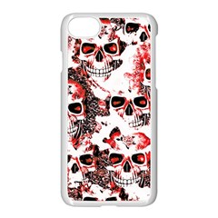 Cloudy Skulls White Red Apple iPhone 7 Seamless Case (White)