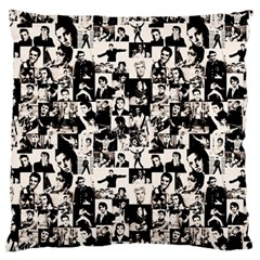 Elvis Presley pattern Large Flano Cushion Case (Two Sides)