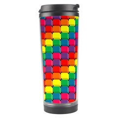 Colorful 3d rectangles           Travel Tumbler
