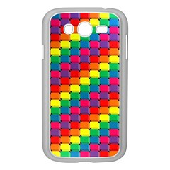 Colorful 3d rectangles     Samsung GALAXY S4 I9500/ I9505 Case (White)