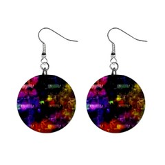 Colorful bricks            1  Button Earrings
