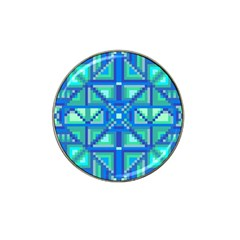 Grid Geometric Pattern Colorful Hat Clip Ball Marker (4 pack)