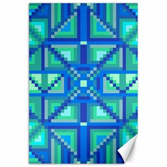Grid Geometric Pattern Colorful Canvas 20  X 30