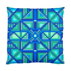 Grid Geometric Pattern Colorful Standard Cushion Case (One Side)