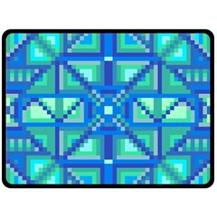 Grid Geometric Pattern Colorful Fleece Blanket (large)