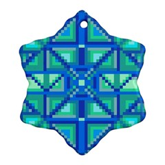 Grid Geometric Pattern Colorful Ornament (snowflake)