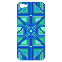 Grid Geometric Pattern Colorful Apple Iphone 5 Hardshell Case