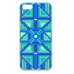 Grid Geometric Pattern Colorful Apple Seamless iPhone 5 Case (Color)