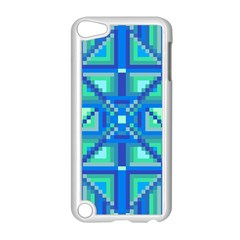 Grid Geometric Pattern Colorful Apple iPod Touch 5 Case (White)