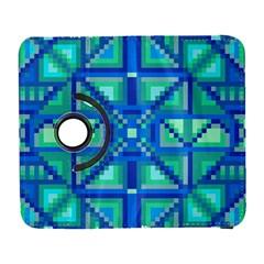 Grid Geometric Pattern Colorful Galaxy S3 (flip/folio)