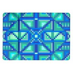 Grid Geometric Pattern Colorful Samsung Galaxy Tab 10.1  P7500 Flip Case
