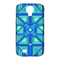 Grid Geometric Pattern Colorful Samsung Galaxy S4 Classic Hardshell Case (pc+silicone)