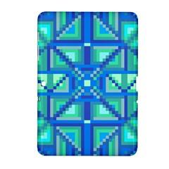 Grid Geometric Pattern Colorful Samsung Galaxy Tab 2 (10.1 ) P5100 Hardshell Case