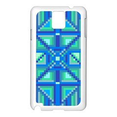 Grid Geometric Pattern Colorful Samsung Galaxy Note 3 N9005 Case (white)