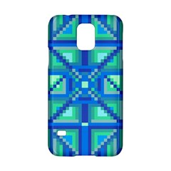 Grid Geometric Pattern Colorful Samsung Galaxy S5 Hardshell Case