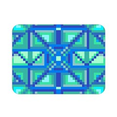 Grid Geometric Pattern Colorful Double Sided Flano Blanket (mini)
