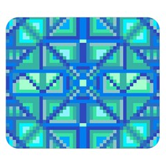 Grid Geometric Pattern Colorful Double Sided Flano Blanket (small)