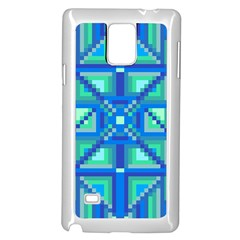 Grid Geometric Pattern Colorful Samsung Galaxy Note 4 Case (white)