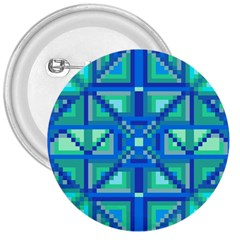 Grid Geometric Pattern Colorful 3  Buttons