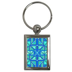 Grid Geometric Pattern Colorful Key Chains (rectangle)