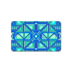 Grid Geometric Pattern Colorful Magnet (Name Card)