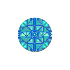 Grid Geometric Pattern Colorful Golf Ball Marker