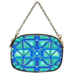 Grid Geometric Pattern Colorful Chain Purses (one Side)