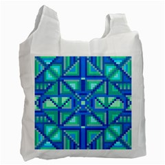 Grid Geometric Pattern Colorful Recycle Bag (Two Side)
