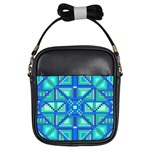 Grid Geometric Pattern Colorful Girls Sling Bags Front