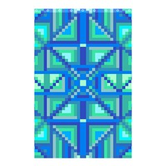 Grid Geometric Pattern Colorful Shower Curtain 48  x 72  (Small)