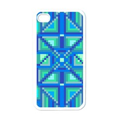 Grid Geometric Pattern Colorful Apple Iphone 4 Case (white)
