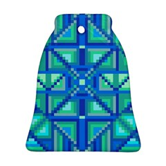 Grid Geometric Pattern Colorful Ornament (Bell)