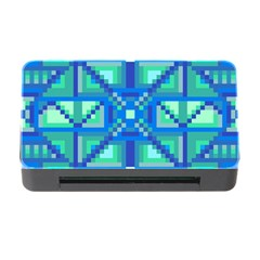 Grid Geometric Pattern Colorful Memory Card Reader with CF
