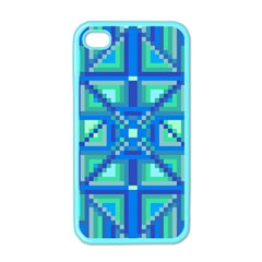 Grid Geometric Pattern Colorful Apple iPhone 4 Case (Color)