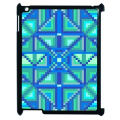 Grid Geometric Pattern Colorful Apple Ipad 2 Case (black)