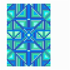 Grid Geometric Pattern Colorful Small Garden Flag (Two Sides)