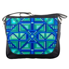 Grid Geometric Pattern Colorful Messenger Bags