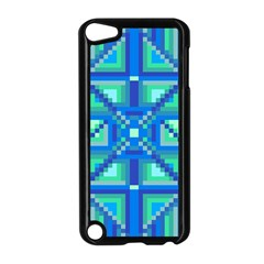 Grid Geometric Pattern Colorful Apple iPod Touch 5 Case (Black)