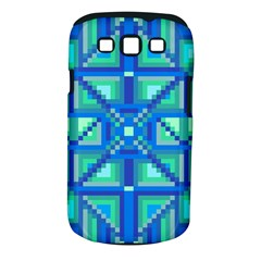 Grid Geometric Pattern Colorful Samsung Galaxy S III Classic Hardshell Case (PC+Silicone)